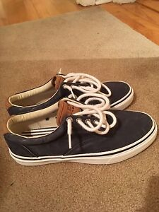 Navy Blue Sperry Top-Sider Boat Shoe