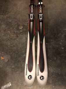 Rossignol 160 skis and bindings