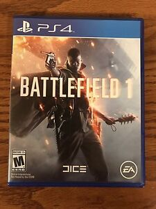 Brand new copy of battlefield one PS4. Only played once.