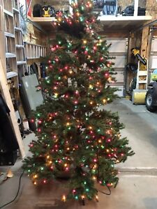 """7.5"""" Christmas tree with colored lights"""