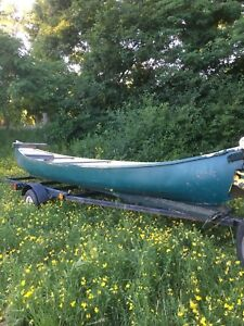 16 foot canoe and trailer