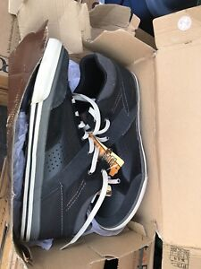 Size 13 Black Leather Sketchers Sneakers (New in box)