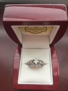 Selling beautiful diamond engagement ring and wedding band