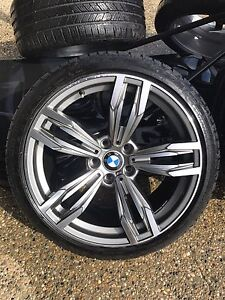 BMW 19 inch M Sport Rims staggered off 2012 535xi with tires