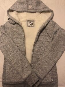 TNA Faux Fur lined Hoodie Size SMALL