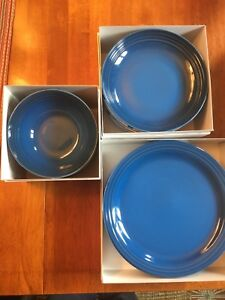 Le Creuset set of 4 Stoneware dishes - Marseille Blue - New