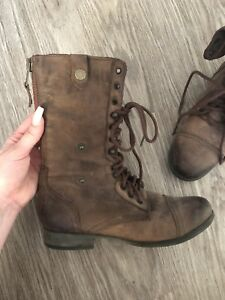 Steve Madden leather boots brand new