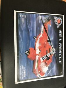 Mega bloks pro builder rare Sea Rescue helicopter