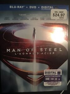 Man of Steel, blu ray ,collectors condition