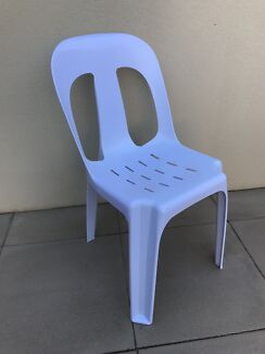 Plastic chairs for hire $1 (strong 180 kilo rated - won't break )
