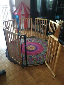 Bily wood play-yard + extension kit