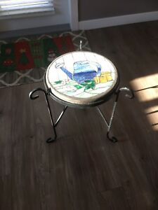 Stained glass end table