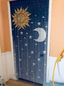 Bamboo Beaded curtain! Sun moon star