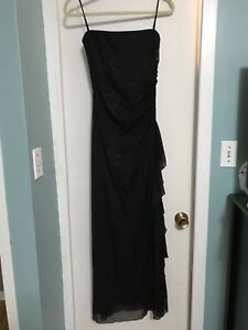 Strapless evening gown size snug M $15