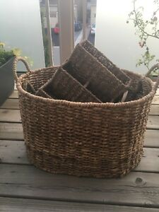 FOUR Wicker Bins/Containers