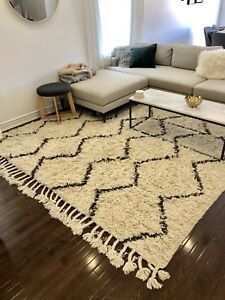 West Elm Souk Wool Rug Natural 8x10