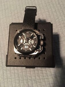 Mens Diesel 10Bar Watch with leather strap and original box