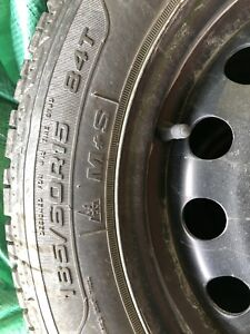 4 used GOODYEAR ULTRAGRIP WINTER TIRES WITH STEEL RIMS. $250