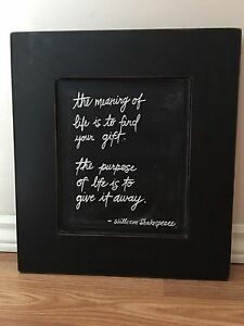 Framed picture.  The meaning of life