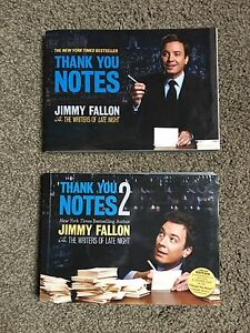 Jimmy Fallon Thank You Notes Books