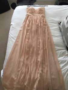 Jenny Yoo Blush Strapless Dress Size 6 Bridesmaid Potential