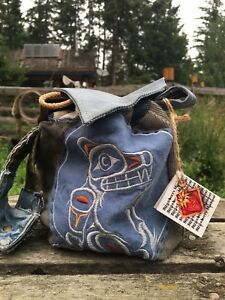 Bike Bag with First Nations design.