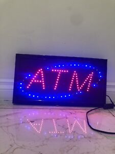 ATM SIGN WITH LIGHT $ 20