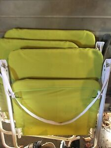3 folding outdoor chairs