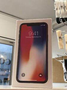 iPhone X 256gb Black Australian model unlocked sealed tax invoice !