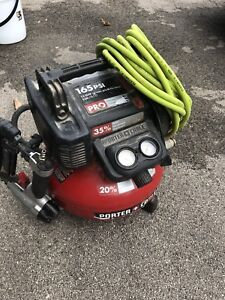 Used , Porter Cable Compressor and a Nail gun