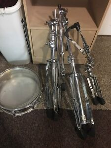 Pearl drum stands and snare