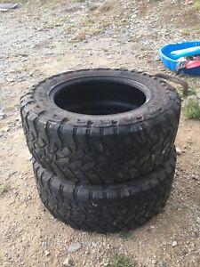 Two 35-12-20 Toyo tires