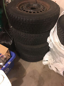 215 70 R15 Set of Four Winter Tires on Rims