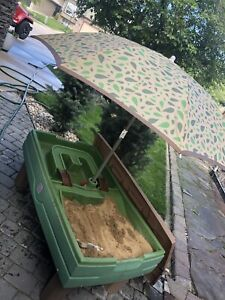 Step Two sand and Water Table with umbrella and cover.