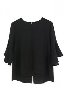 Women black tops/blouse uniform
