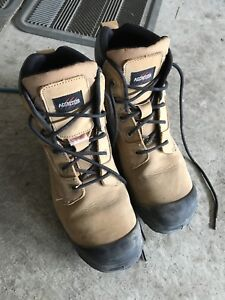 Steer toed boots