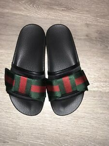 fcf0464f1c4a32 Gucci - Satin slide with Web bow - Size 36