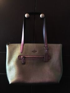Authentic Coach Taylor Tote Hologram with turn lock