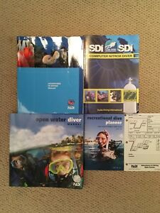 Scuba Diving Manuals for Open Water and Advanced Open Water