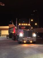 1A drivers hauling snow for day and night shift