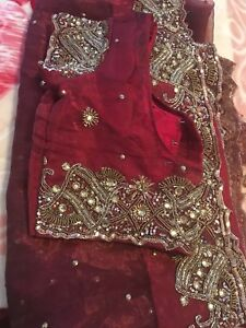 Saree and 7 kameez set