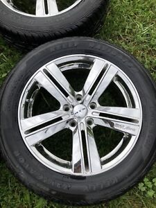 Aftermarket chrome rims and tires