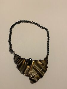 Avi Soffer hematite and stirling silver necklace