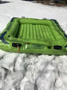 Green Coleman blow up party raft