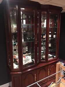 Solid cheery wine display case