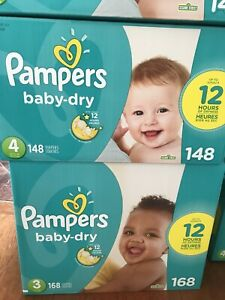 Pampers Diapers Size 3/4 $25 each or $20 wub 2+