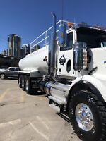 Water and vacuum truck operators required!