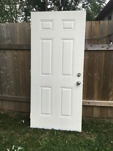 36 by 80 Steel Door (6 Panel)