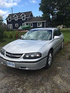 Great condition! 2003 Chevy Impala. LOW KMS!