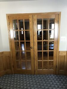 Solid Oak French doors for sale